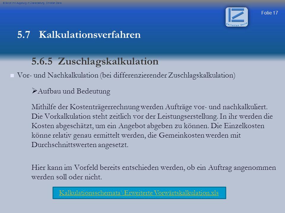 Kalkulationsschemata\Erweiterte Vorwärtskalkulation.xls