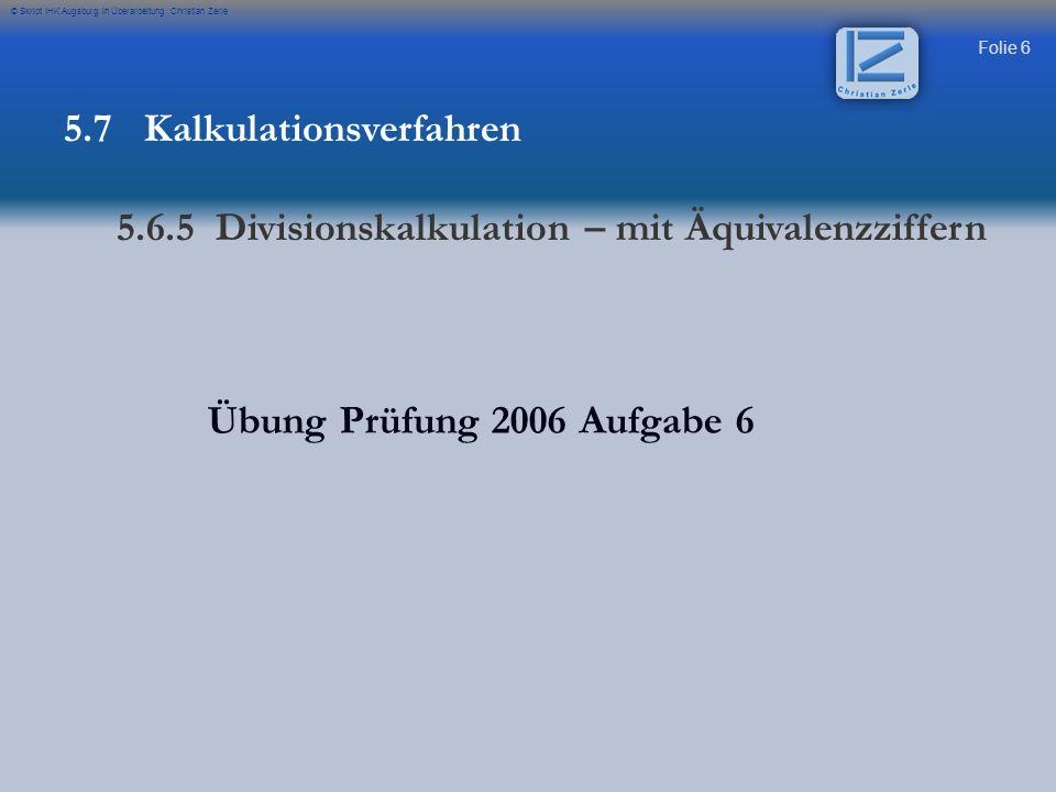 5.7 Kalkulationsverfahren