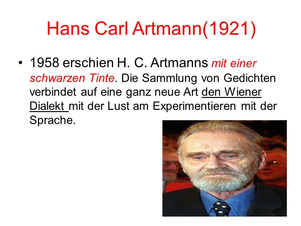 Hans Carl Artmann(1921)