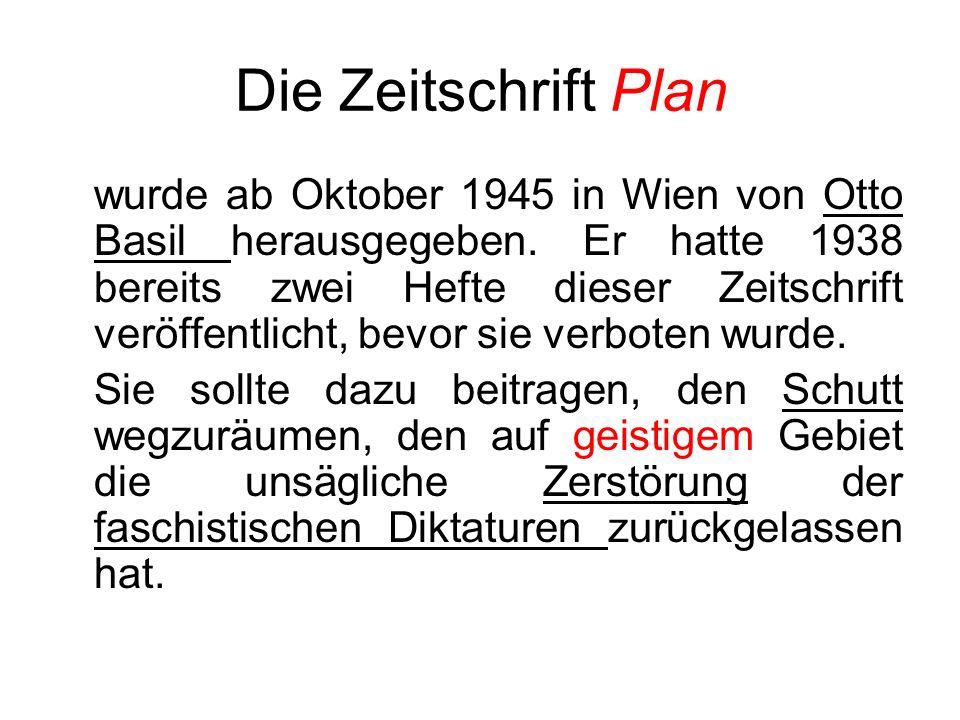 Die Zeitschrift Plan