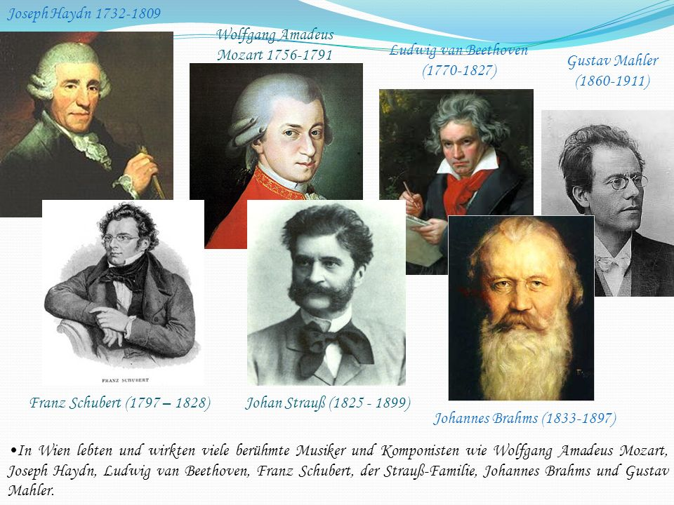 Wolfgang Amadeus Mozart 1756-1791 Ludwig van Beethoven (1770-1827)