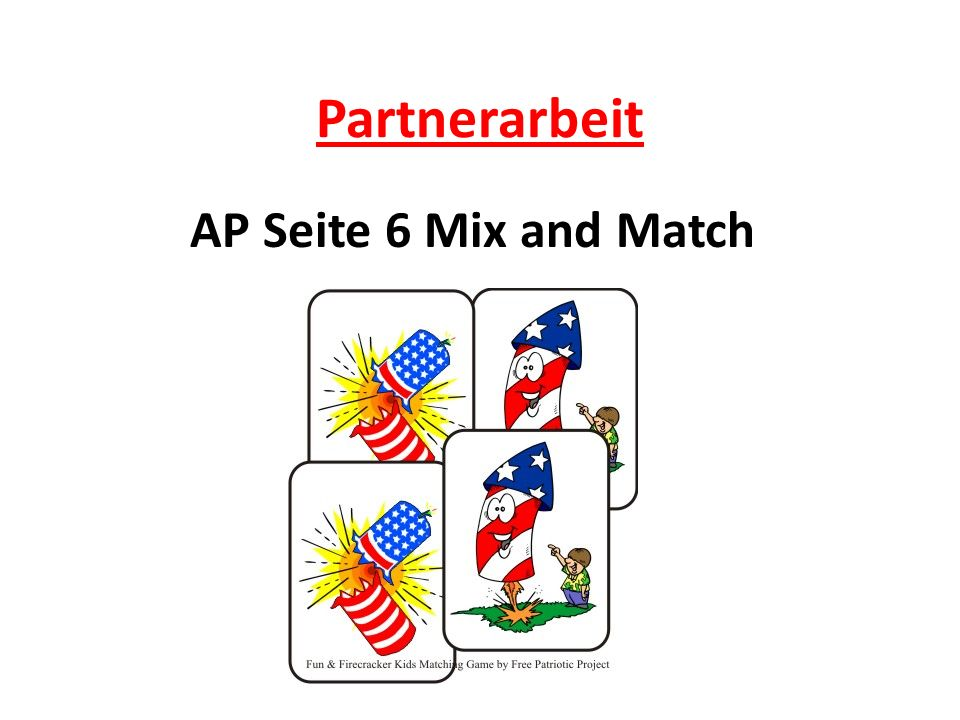 Partnerarbeit AP Seite 6 Mix and Match