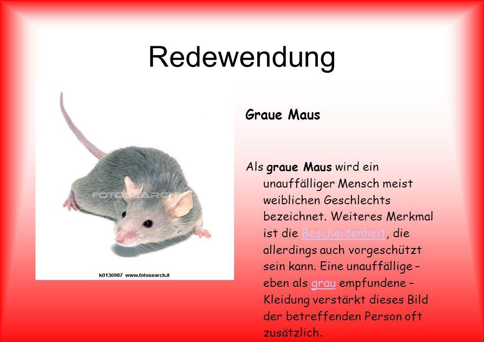 Redewendung Graue Maus