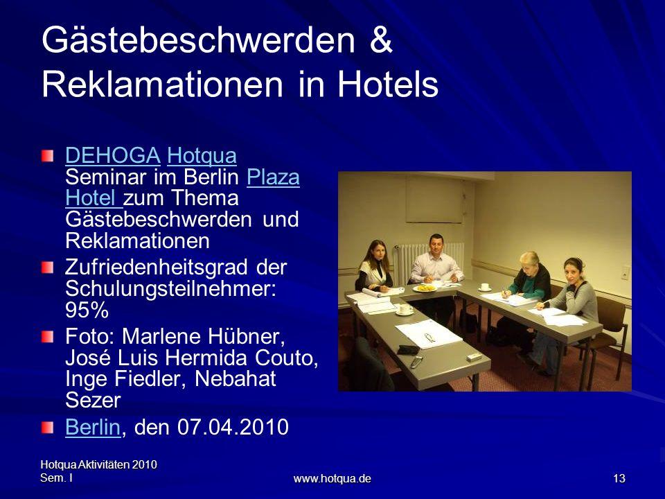 Gästebeschwerden & Reklamationen in Hotels