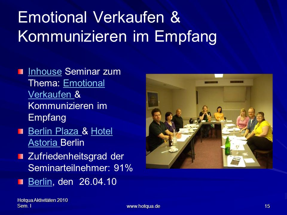 Emotional Verkaufen & Kommunizieren im Empfang