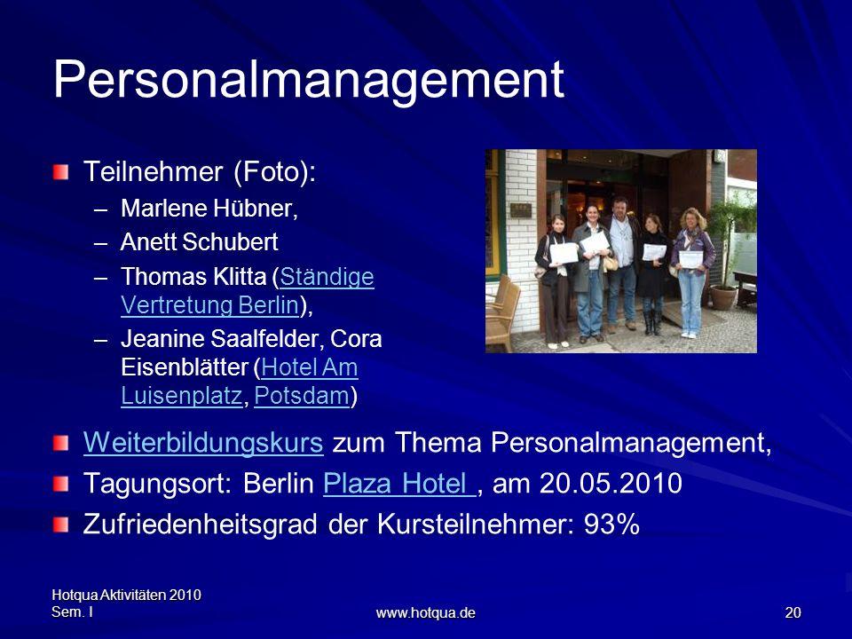 Personalmanagement Teilnehmer (Foto):