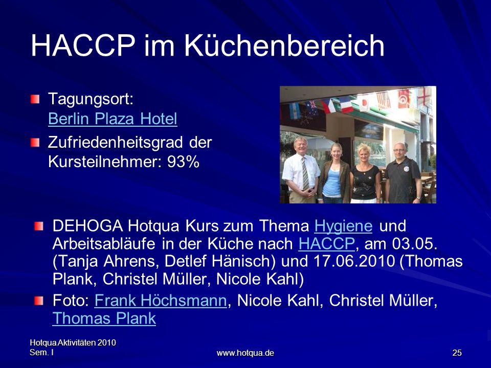 HACCP im Küchenbereich