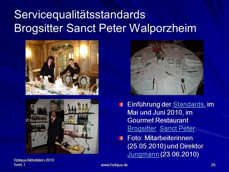 Servicequalitätsstandards Brogsitter Sanct Peter Walporzheim
