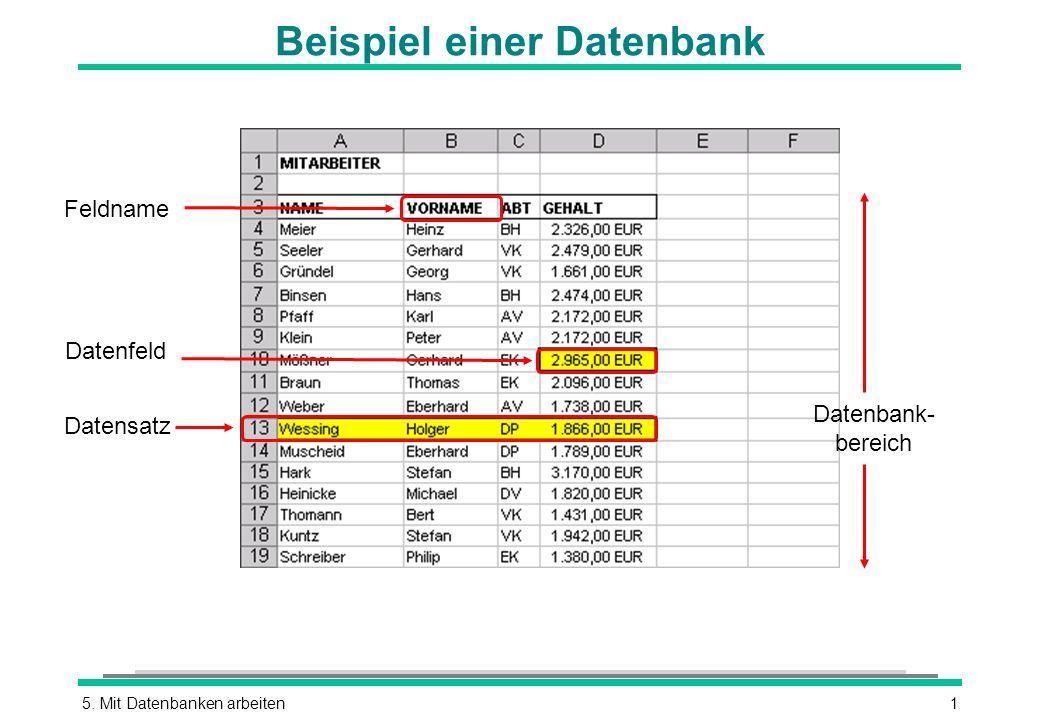Beispiel einer Datenbank