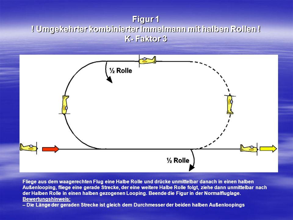 Figur 1. Umgekehrter kombinierter Immelmann mit halben Rollen