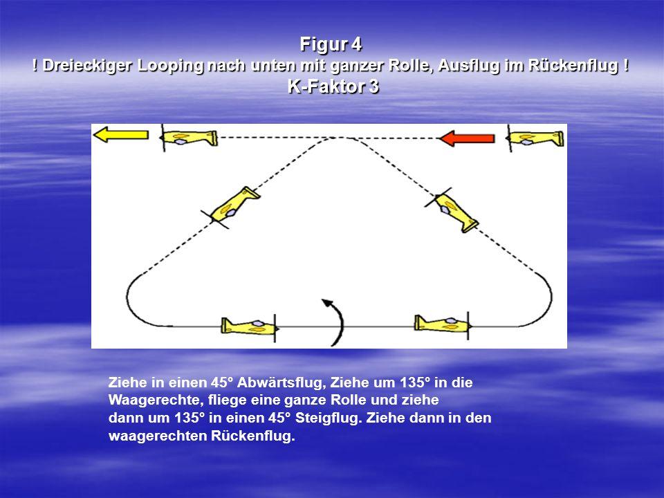 Figur 4 ! Dreieckiger Looping nach unten mit ganzer Rolle, Ausflug im Rückenflug ! K-Faktor 3