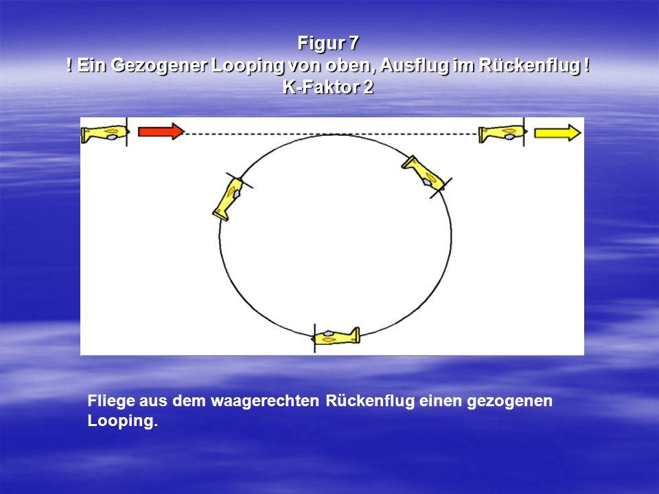 Figur 7. Ein Gezogener Looping von oben, Ausflug im Rückenflug