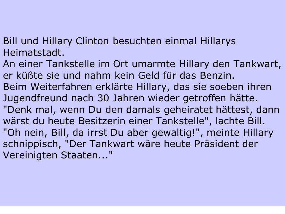 Bill und Hillary Clinton besuchten einmal Hillarys Heimatstadt