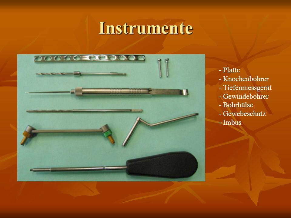 Instrumente Platte Knochenbohrer Tiefenmessgerät Gewindebohrer