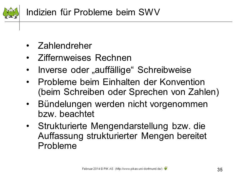 Indizien für Probleme beim SWV