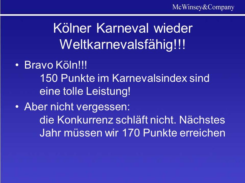 Kölner Karneval wieder Weltkarnevalsfähig!!!