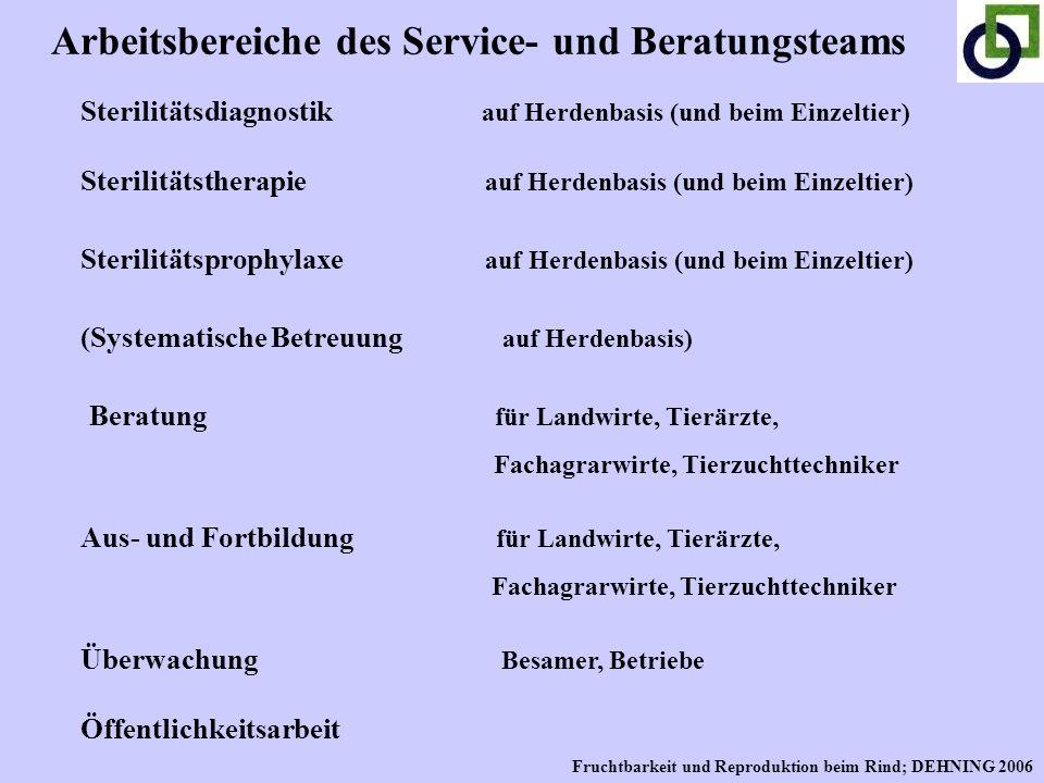 Arbeitsbereiche des Service- und Beratungsteams
