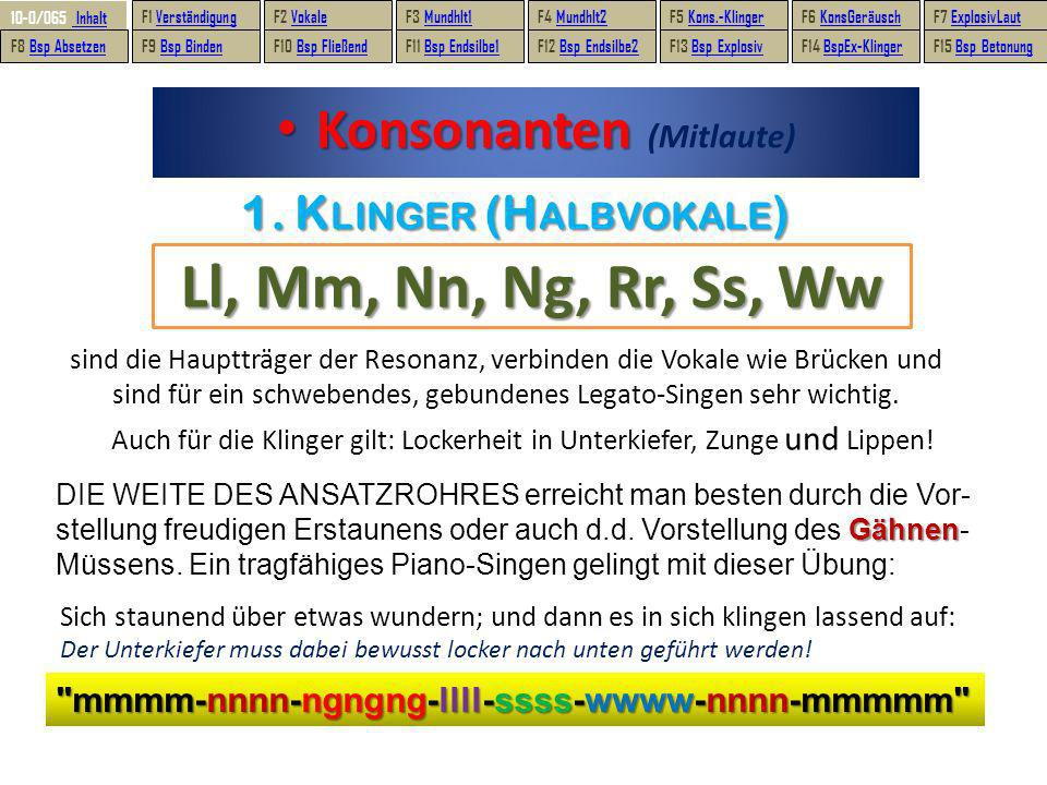 Konsonanten (Mitlaute)