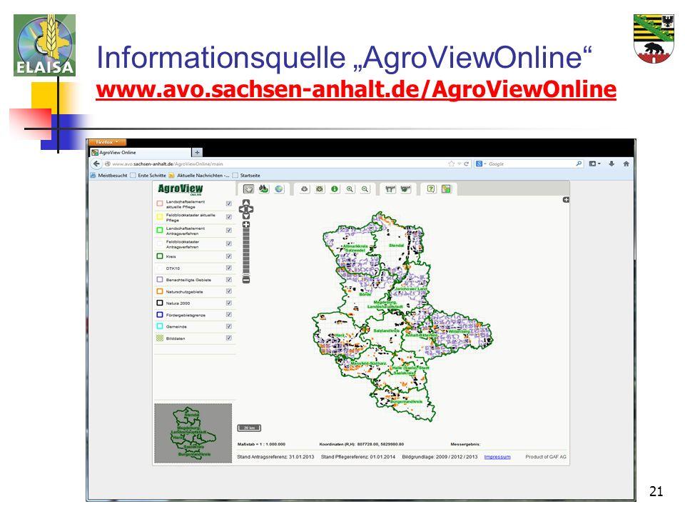 """Informationsquelle """"AgroViewOnline"""