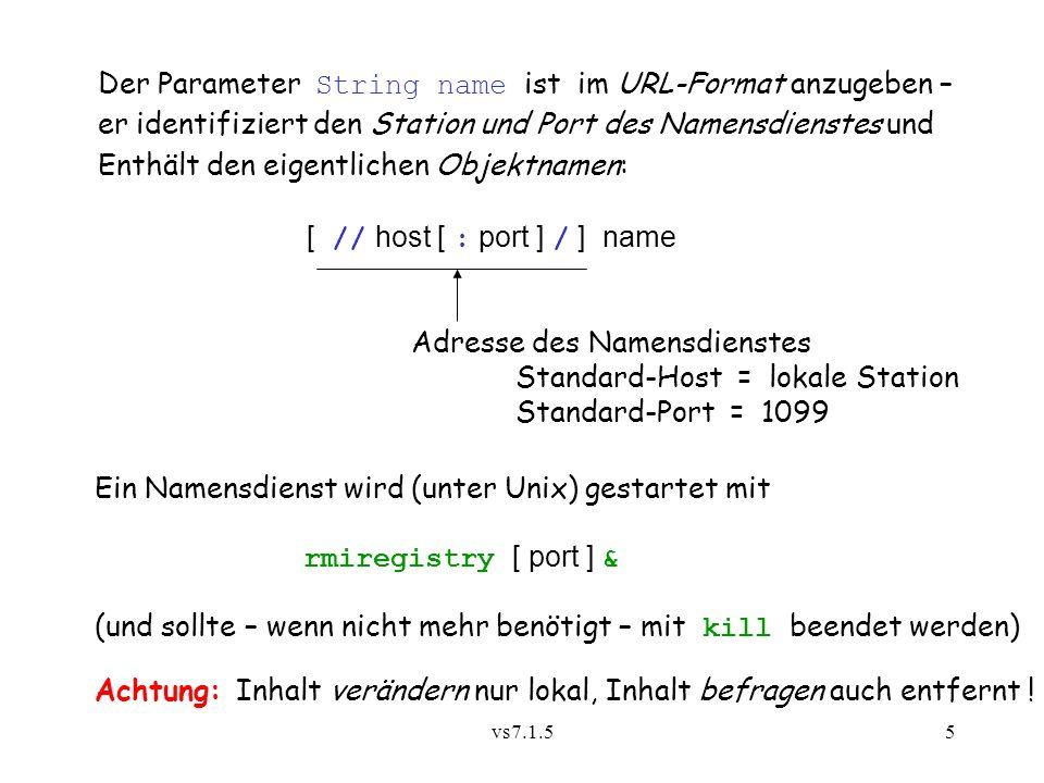 Der Parameter String name ist im URL-Format anzugeben –