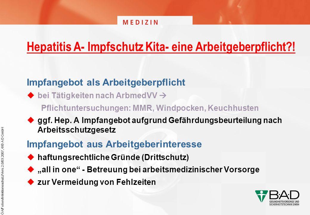 Hepatitis A- Impfschutz Kita- eine Arbeitgeberpflicht !