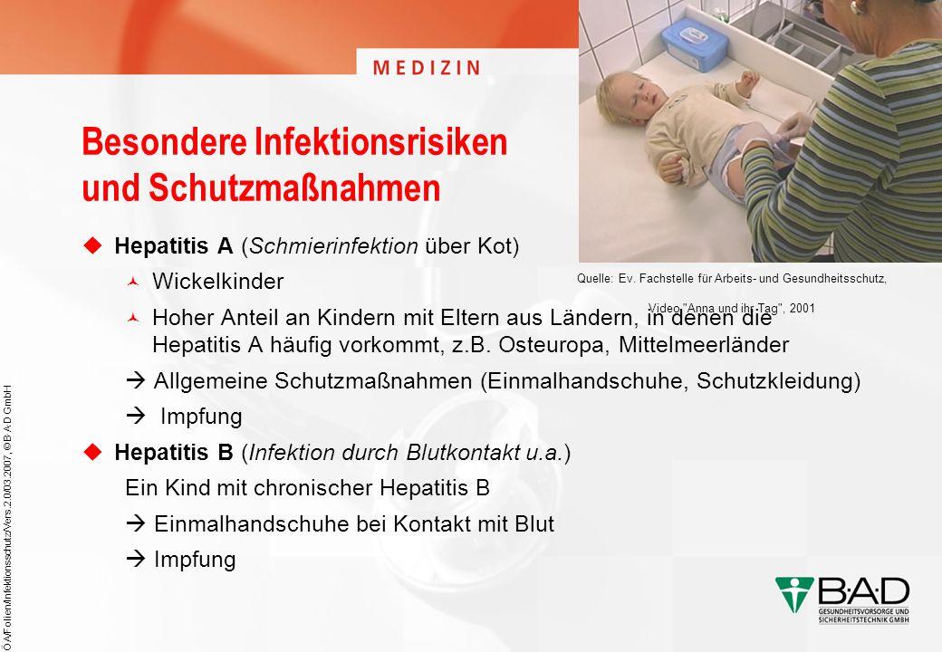 Besondere Infektionsrisiken und Schutzmaßnahmen