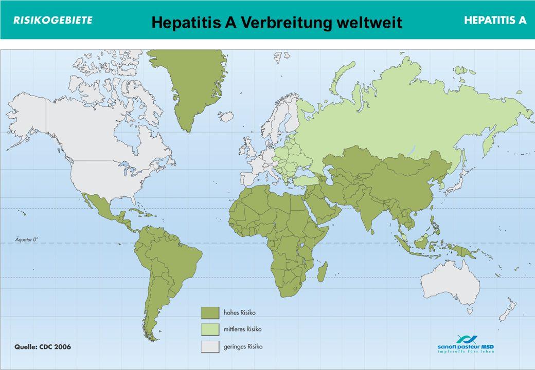 Hepatitis A Verbreitung weltweit