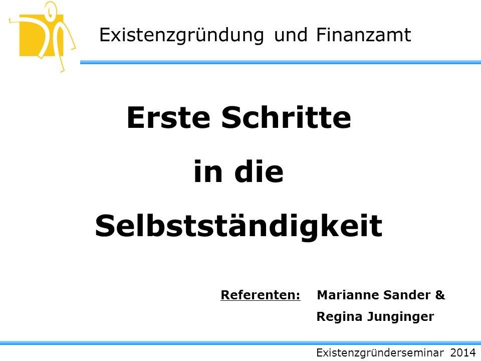 Referenten: Marianne Sander &