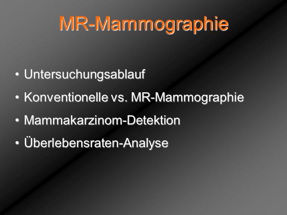 MR-Mammographie Untersuchungsablauf Konventionelle vs. MR-Mammographie