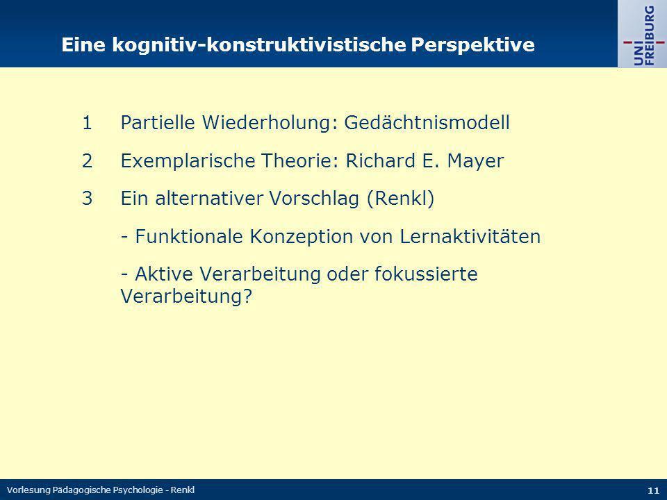 Eine kognitiv-konstruktivistische Perspektive