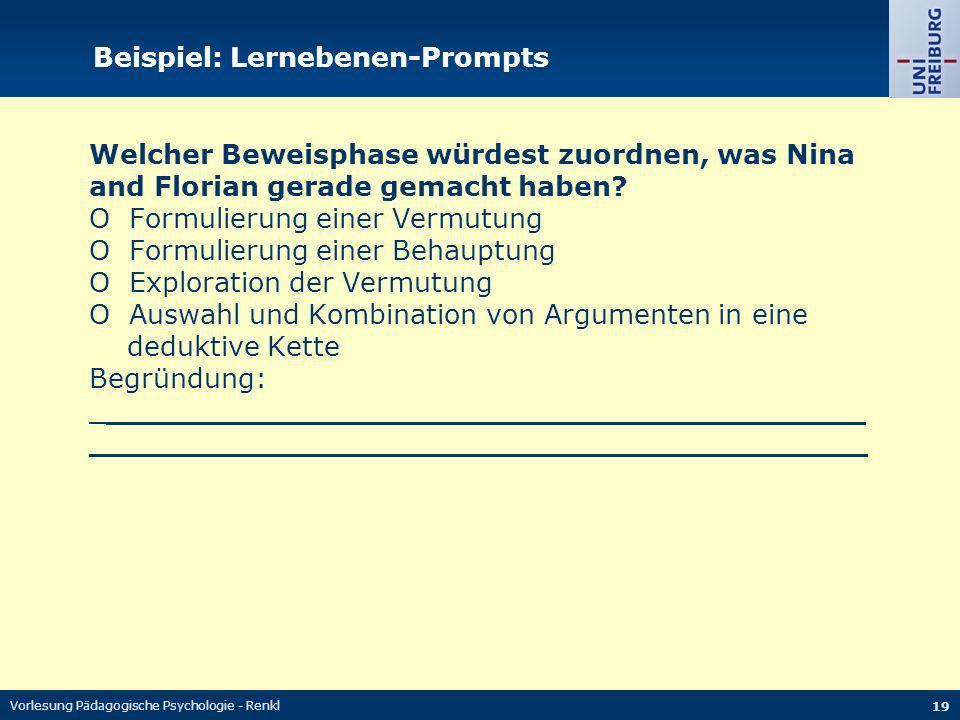 Beispiel: Lernebenen-Prompts