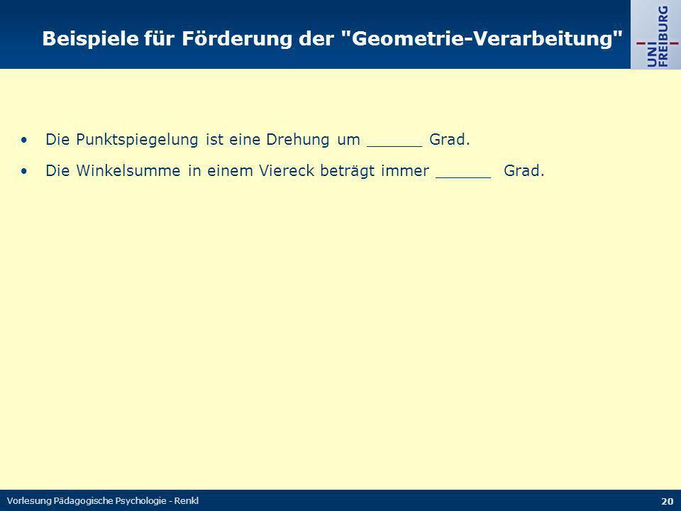 Beispiele für Förderung der Geometrie-Verarbeitung