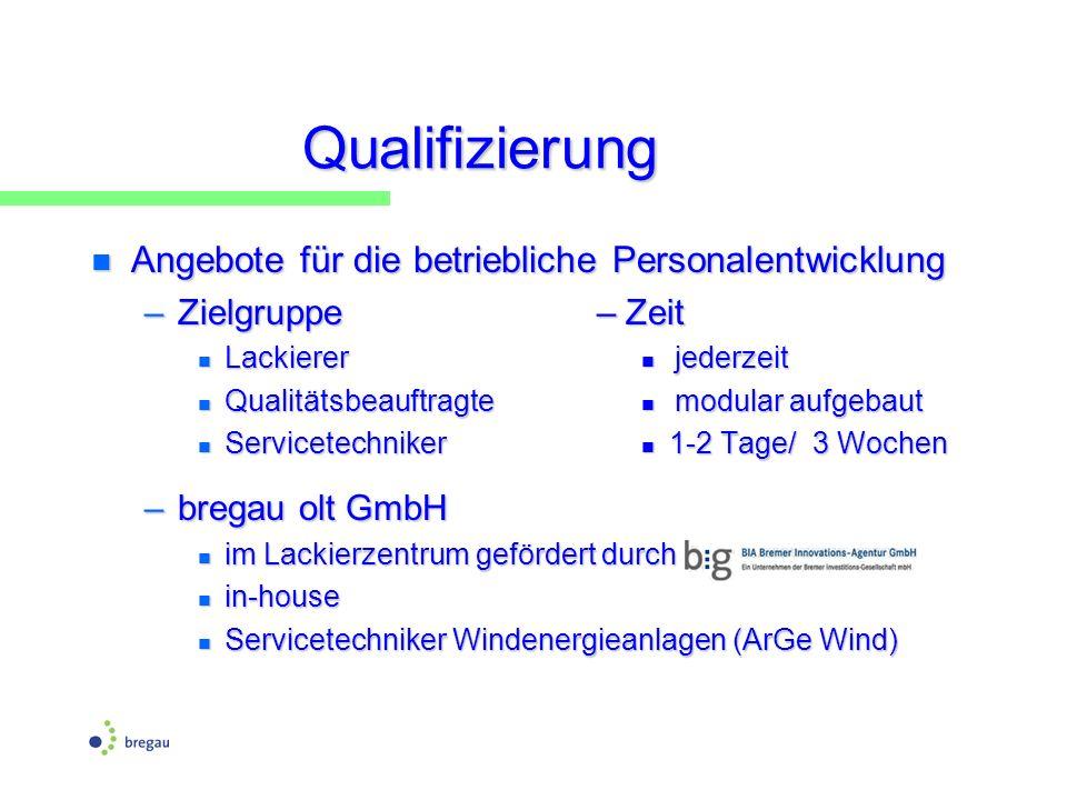 Qualifizierung Angebote für die betriebliche Personalentwicklung