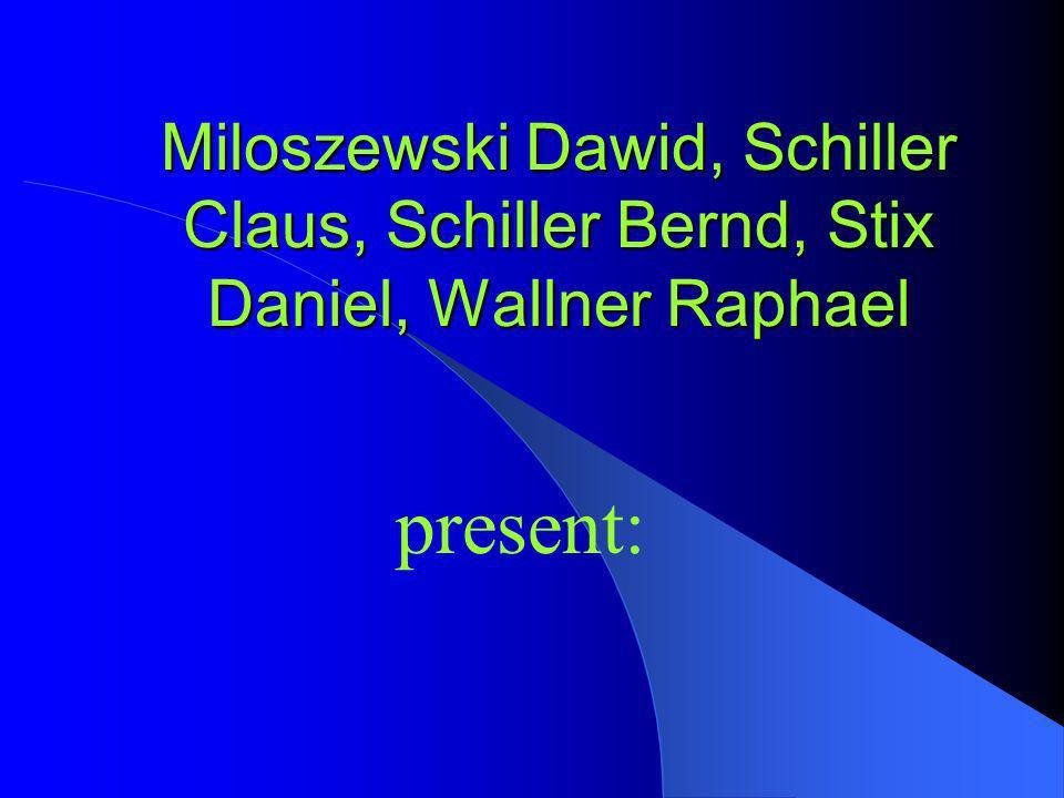 Miloszewski Dawid, Schiller Claus, Schiller Bernd, Stix Daniel, Wallner Raphael