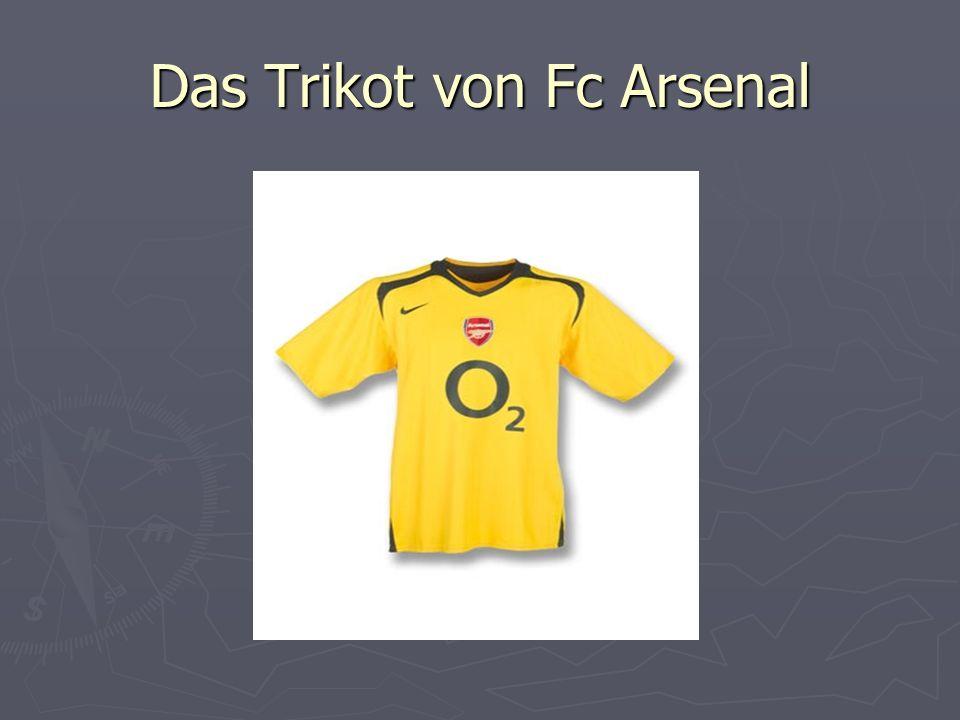 Das Trikot von Fc Arsenal