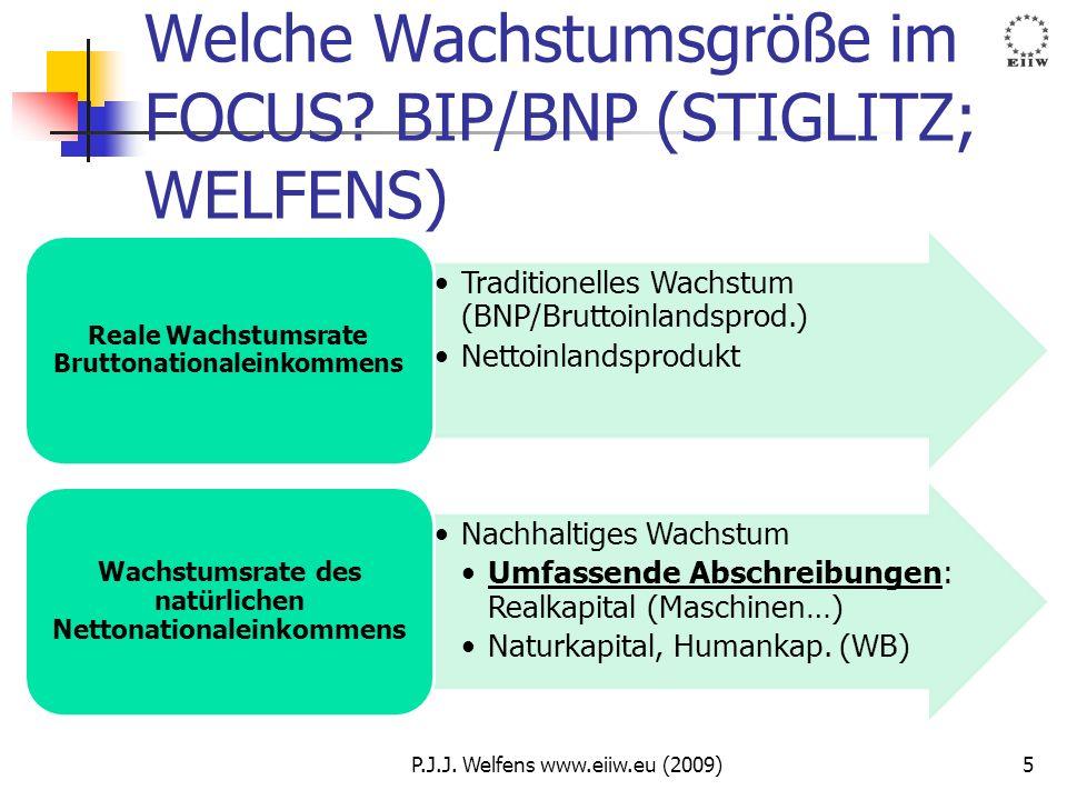 Welche Wachstumsgröße im FOCUS BIP/BNP (STIGLITZ; WELFENS)
