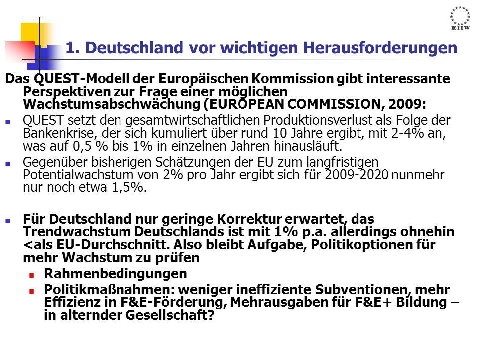 1. Deutschland vor wichtigen Herausforderungen
