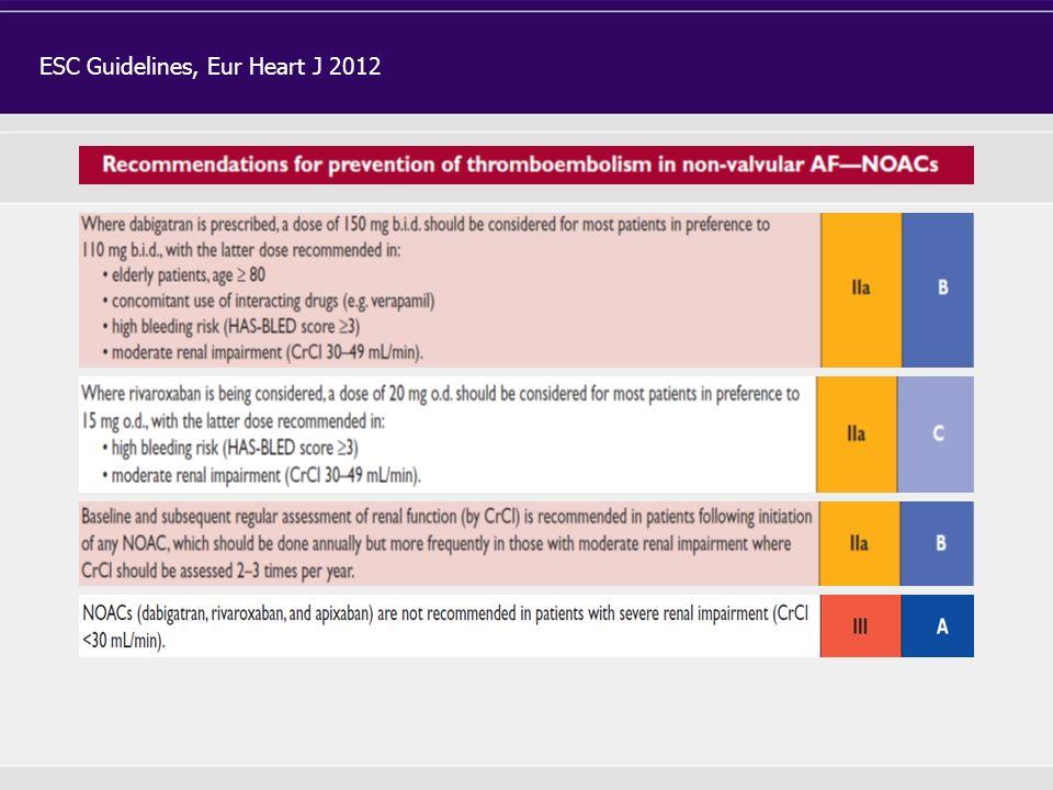 ESC Guidelines, Eur Heart J 2012