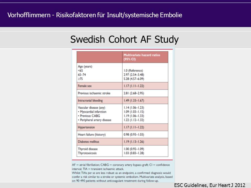 Swedish Cohort AF Study