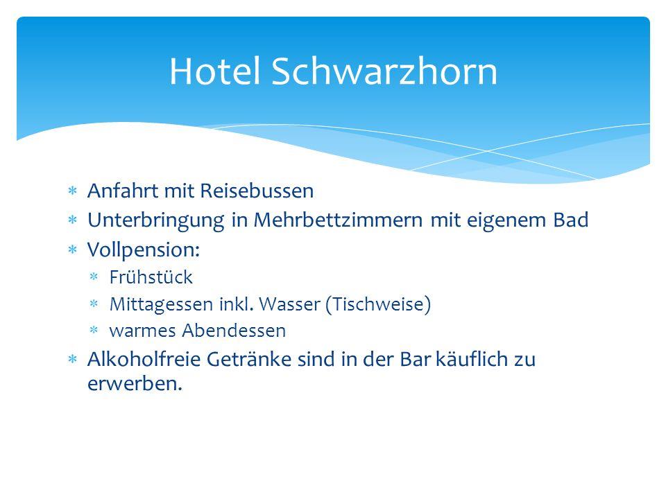 Hotel Schwarzhorn Anfahrt mit Reisebussen
