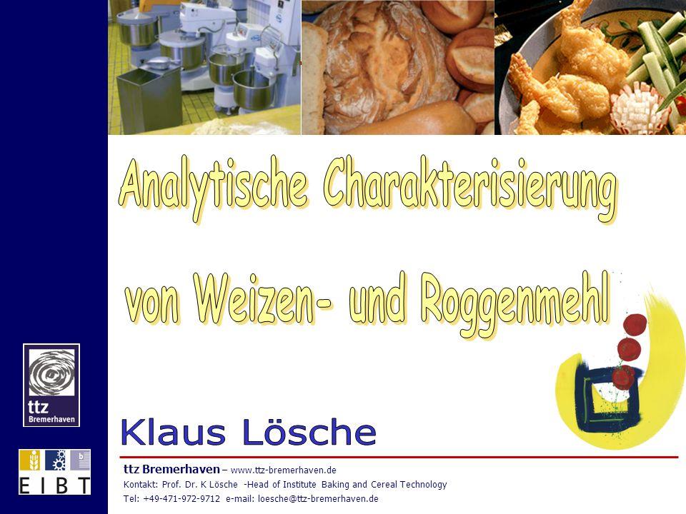 Analytische Charakterisierung von Weizen- und Roggenmehl