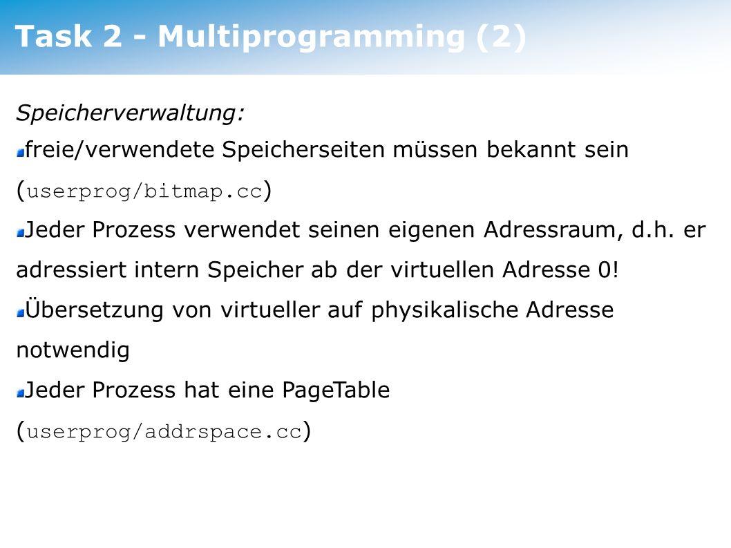 Task 2 - Multiprogramming (2)