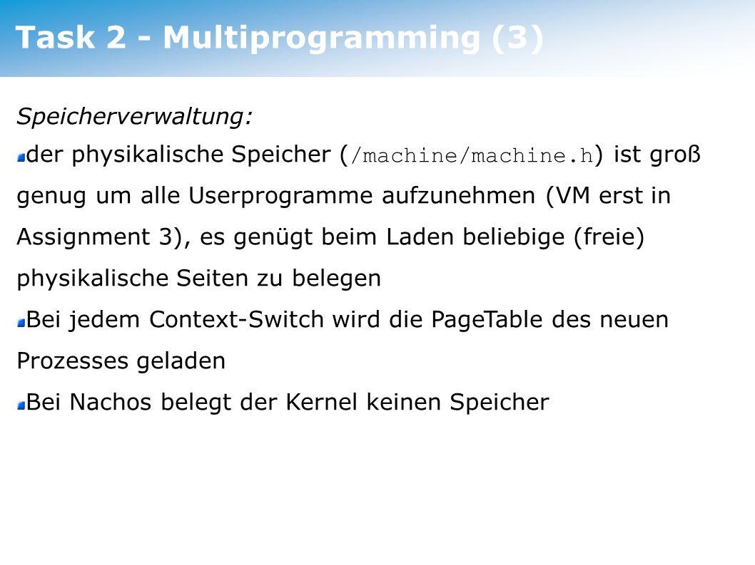 Task 2 - Multiprogramming (3)