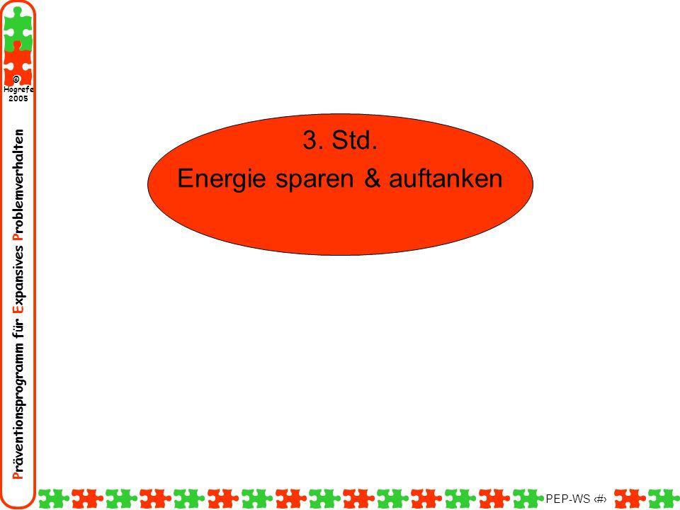 Energie sparen & auftanken