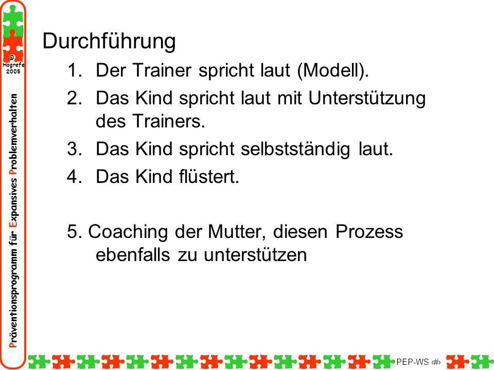 Durchführung Der Trainer spricht laut (Modell).