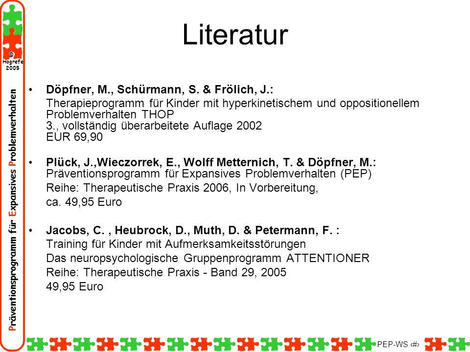 Literatur Döpfner, M., Schürmann, S. & Frölich, J.: