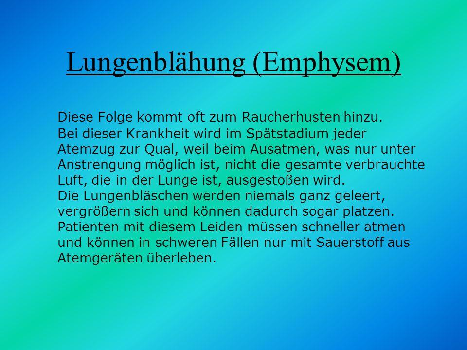 Lungenblähung (Emphysem)