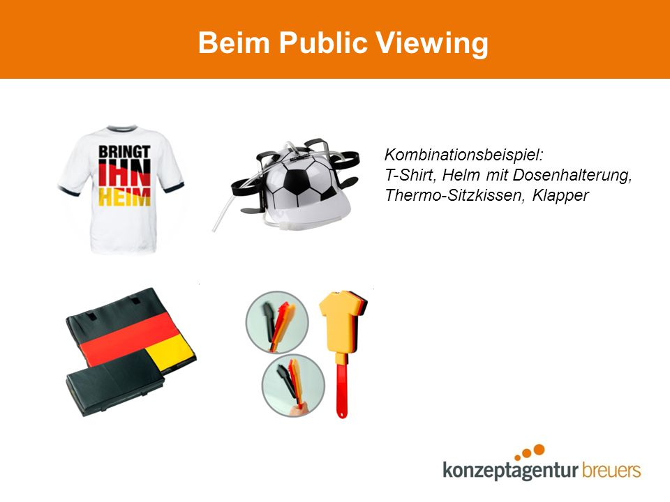 Beim Public Viewing Kombinationsbeispiel: