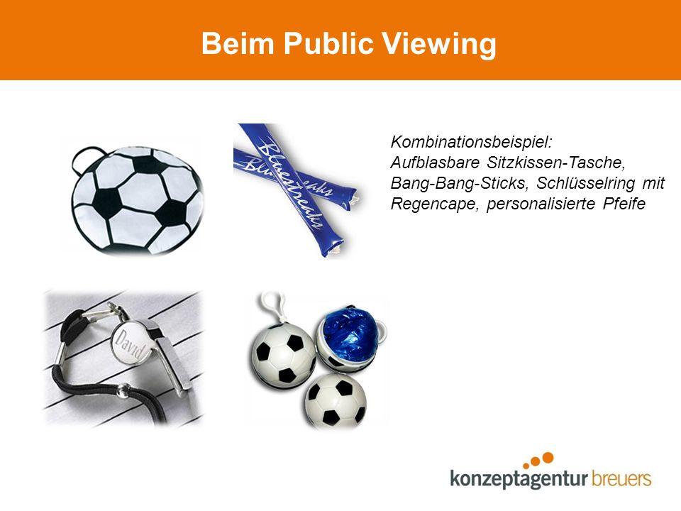 Beim Public Viewing Kombinationsbeispiel: