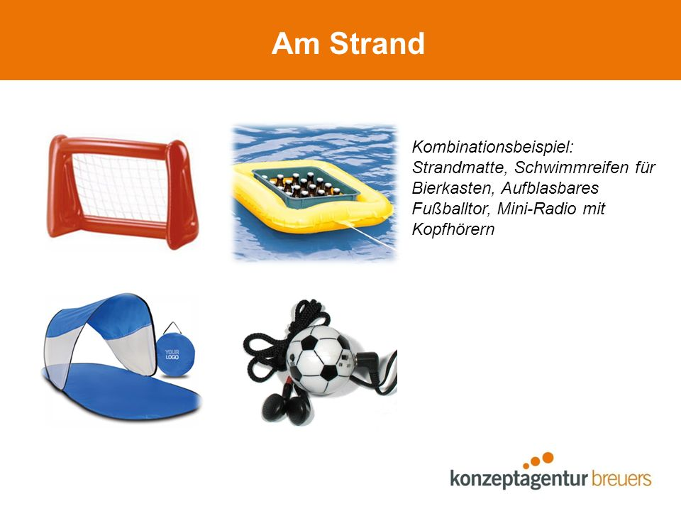 Am Strand Kombinationsbeispiel:
